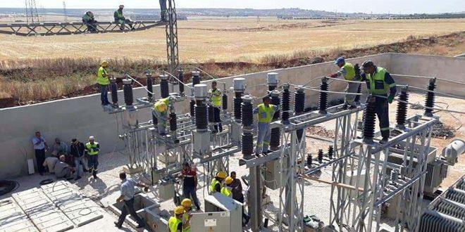 Restablecen la electricidad en dos ciudades en el norte de Alepo tras siete años de interrupción