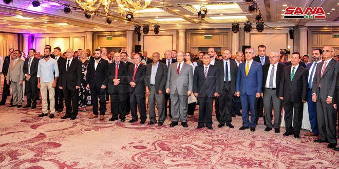 Recepción con motivo del 75 aniversario del establecimiento de relaciones diplomáticas entre Siria y Rusia