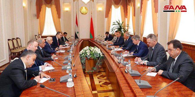 El Primer Ministro de Bielorrusia sostiene conversaciones con el canciller al-Moallem