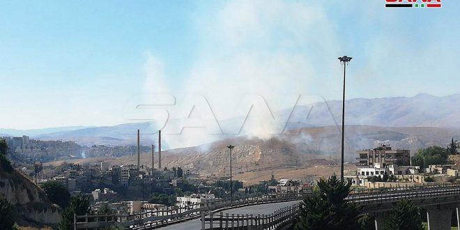 Incendio en la región de Hameh causa tres heridos