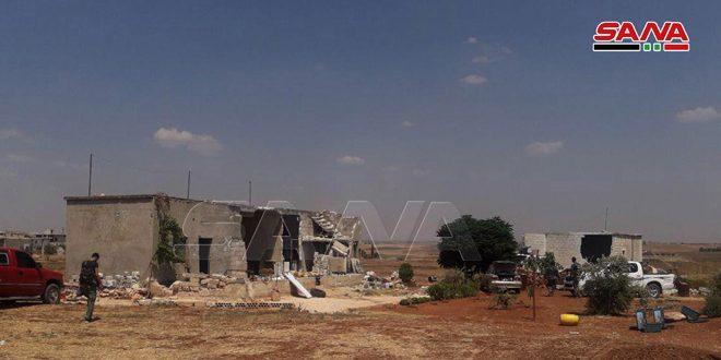 Cámara de SANA acompaña a los héroes del Ejército en el pueblo de al-Zakat (fotoreportaje)