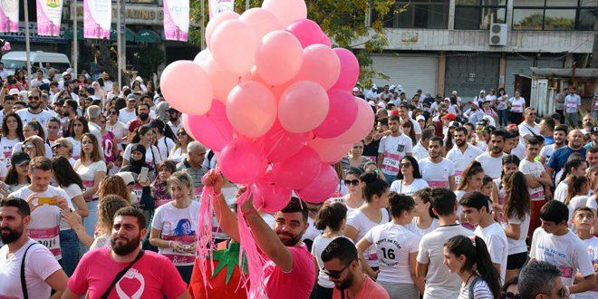 Maratón de concientización sobre detección temprana del cáncer de mama