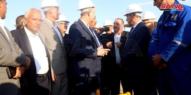 La comisión ministerial encargada de ejecutar proyectos en Deir Ezzor y Raqqa inaugura varios proyectos