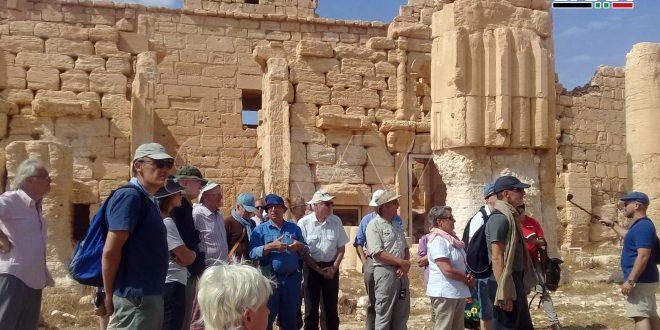 26 turistas franceses y portugueses visitan la ciudad de Palmira (fotoreportaje)