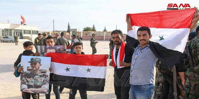 Concentraciones populares en Raqa, Manbej y al Mayadeen en apoyo al ejército nacional