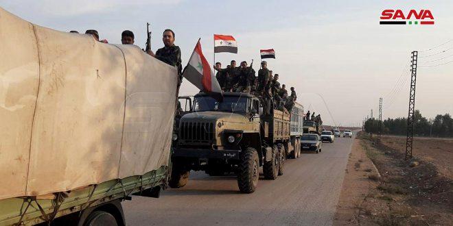 Columnas del ejército se dirigen hacia el nordeste de Siria