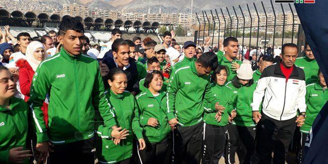 El 1er Maratón de Damasco para apoyar a los minusválidos mentales