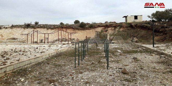 Hallado un cuartel y un campamento de entrenamiento en el campo sur de Idleb