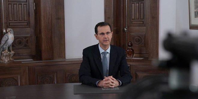 Presidente Al-Assad: La batalla en Alepo e Idleb continuará independientemente de algunos ruidos que vienen del norte