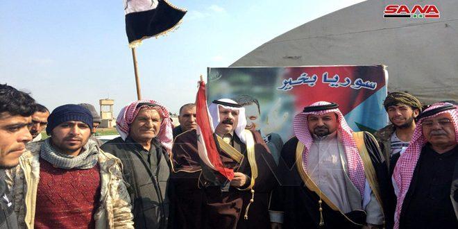 Reunión tribal en Hasakeh para exigir salida de las tropas de ocupación de EE.UU