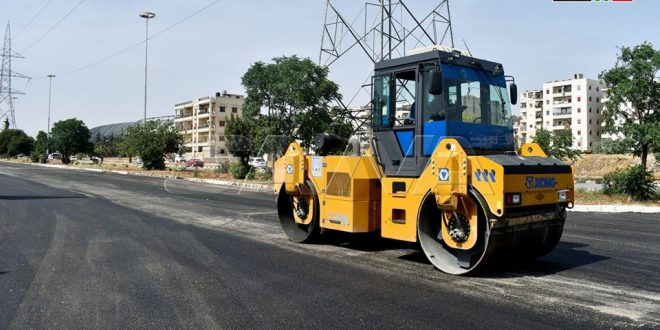 Pavimentación de las calles de Alepo