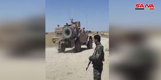 Un convoy de la ocupación estadounidense es interceptado por pobladores y militares sirios