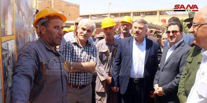 Expertos nacionales logran reparar el segundo grupo generador de la central eléctrica Al-Taim en Deir Ezzor