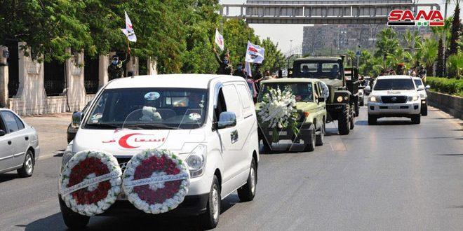 Celebran funerales del jefe del Estado Mayor del Ejército de Liberación de Palestina