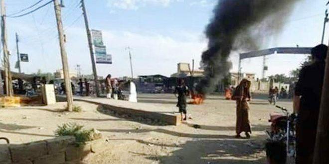 Tres heridos en represión de la milicia FDS a protesta contra el ocupante estadounidense en Deir Ezzor, Siria