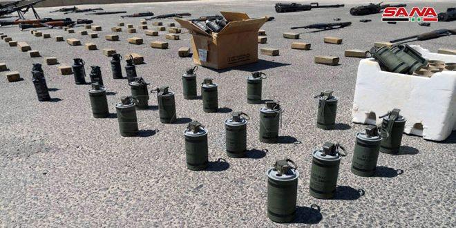 Ejército sirio incautó minas estadounidenses e israelíes en escondite terrorista (fotos)
