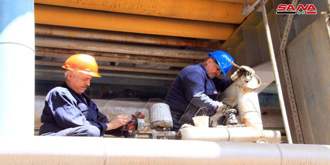 Obras de mantenimiento de la refinería de Banias
