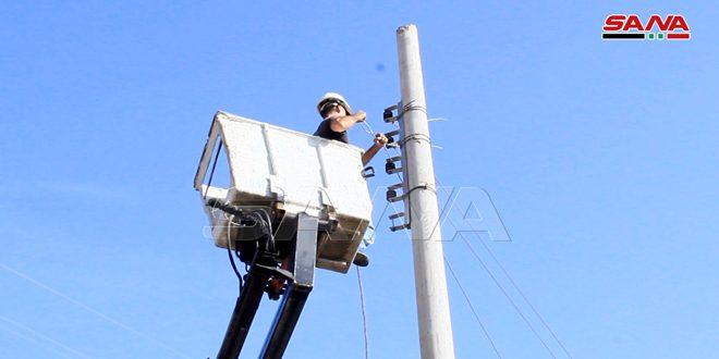 Concluyen obras de rehabilitación de red eléctrica afectada por incendios en Tartous