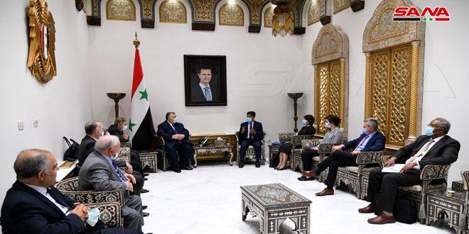 Medidas coercitivas impuestas a Siria impiden adquisición de muchos insumos médicos, denuncia Presidente del Parlamento