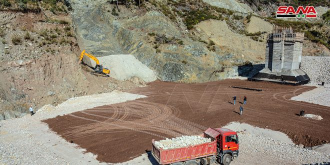 Buena tasa de ejecución del proyecto de la presa Faki Hassan, Latakia (fotos)