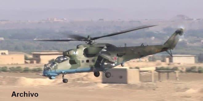 Se estrella un helicóptero ruso en Siria y el piloto cae mártir