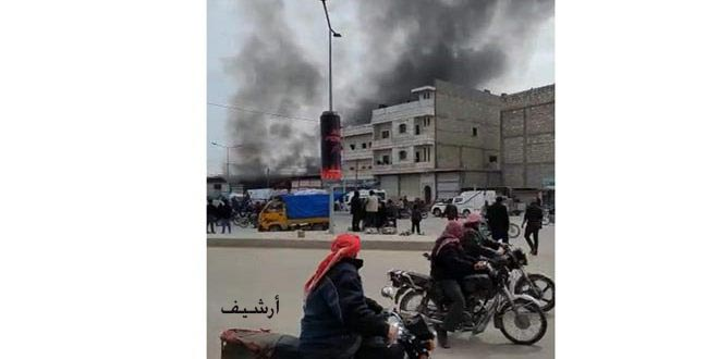 Explosión de una bomba causa lesiones a civiles y mercenarios proturcos en Al-Bab/Alepo