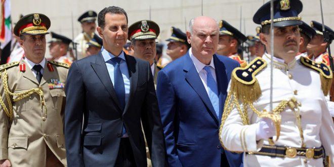 Presidente al-Assad recibió al presidente de la República de Abjasia