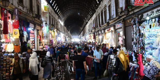 Recurrido en los mercados de Damasco antes de Eid al Fitr