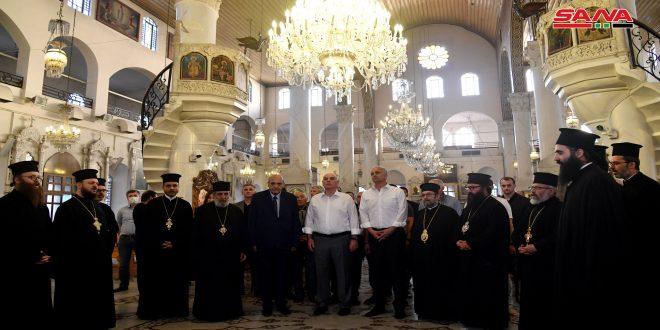 Delegación abjasia visita la Iglesia Mariamita e inaugura una oficina de representación comercial e industrial en Damasco