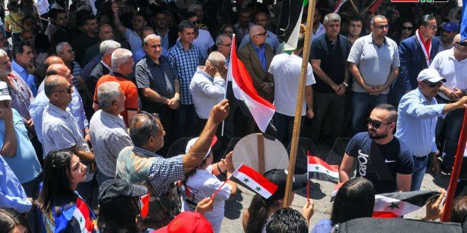 Reuniones populares en apoyo a las elecciones presidenciales en Homs y Latakia: la participación en las elecciones presidenciales es una responsabilidad por el futuro de Siria