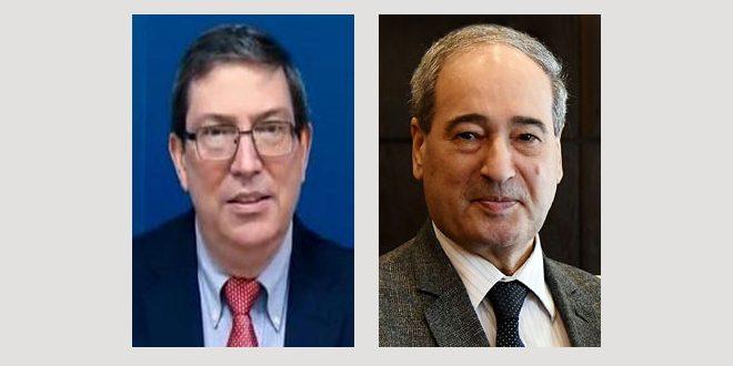 Mekdad felicita a su homólogo cubano por victoria diplomática de Cuba en la Asamblea General de la ONU