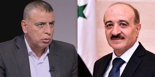 Ministros del Interior de Siria y Jordania abordan coordinación y cooperación bilateral