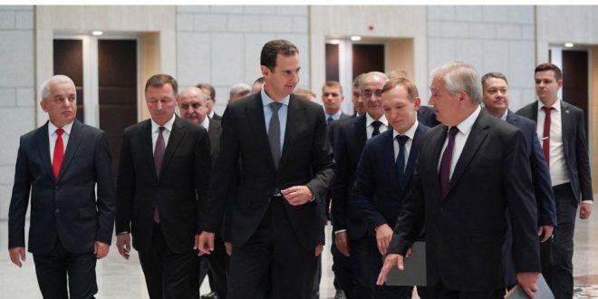 Presidente al-Assad recibe delegación rusa encabezada por el enviado especial del presidente Putin