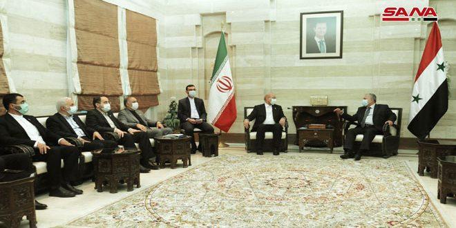 Impulsar el intercambio comercial centra conversaciones del Primer Ministro de Siria con el Presidente de la Shura de Irán