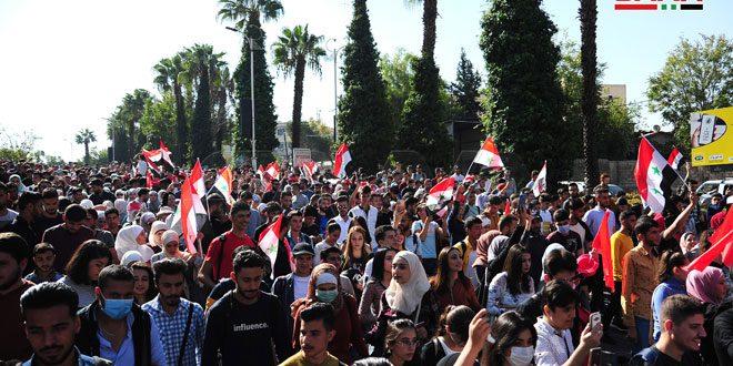 En fotos: el carnaval universitario anual en Damasco