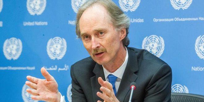 فرستاده ویژه سازمان ملل در امور سوریه دیدار خود با وزیر خارجه سوریه را سازنده خواند