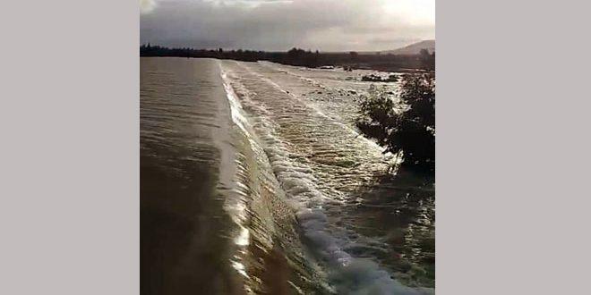 سرریز شدن دو سد در ریف غربی درعا با افزایش بارندگیها