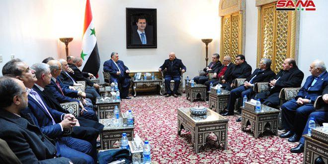 تاکید رئیس پارلمان سوریه بر اهمیت تقویت همکاری ها بین سندیکاهای سوریه و اردن در مرحله بازسازی