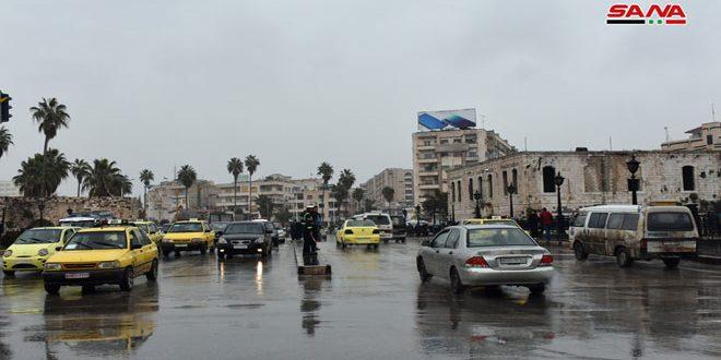 منطقه البهلویه در لاذقیه با 54 میلیمتر بارندگی بیشترین میزان بارش باران را در 24 ساعت گذشته داشت