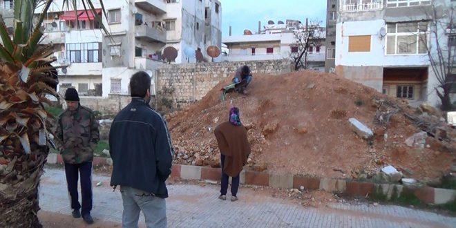 لاذقیه: شهادت دو کودک بر اثر انفجار یک بمب دفن شده در باغ کورنیش جبله