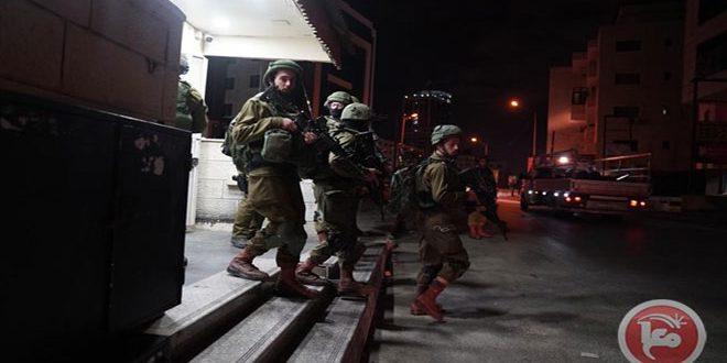 بازداشت 4 فلسطینی در کرانه باختری توسط نیروهای اشغالگر اسرائیلی