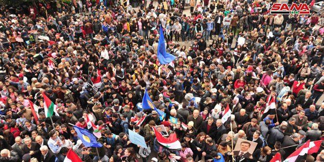 تجمعات اعتراضی در استان های کشور در محکومیت تصمیم ترامپ پیرامون جولان اشغالی سوریه