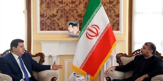 عبداللهیان در دیدار با سفیر محمود بر تداوم روابط استراتژیک ايران –سوريه تاكيد کرد