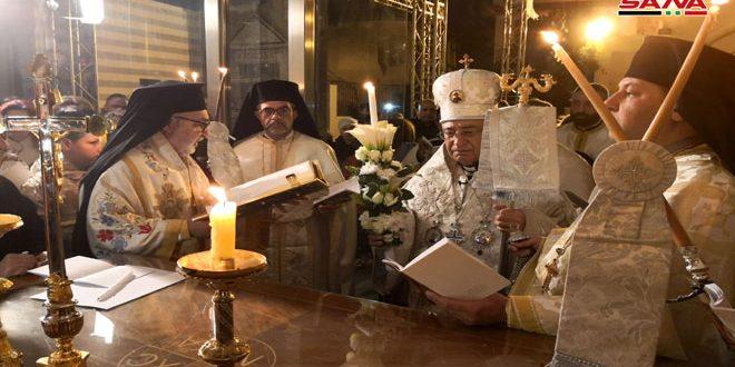 مسيحيان سوریه که از تقویم گرگوری استفاده می کنند عید پاک را جشن می گیردند