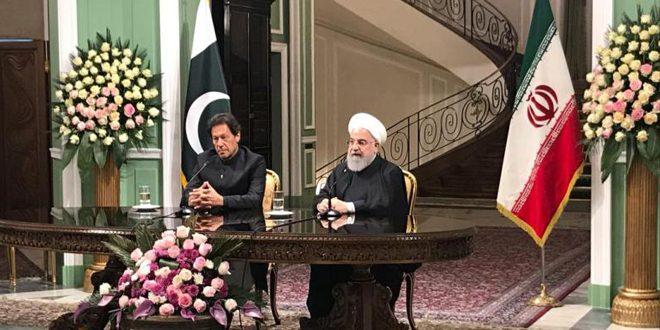 گفتگوی روحانی و خان در مورد اقدامات نادرست آمریکا به ویژه در مسئله قدس، جولان و سپاه پاسداران انقلاب اسلامی