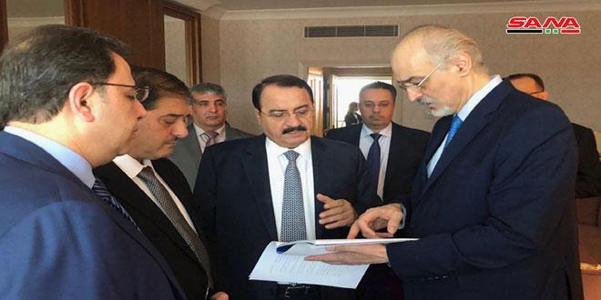 دیدار هيات جمهوری عربی سوريه با هيات ايران در چارچوب دوازدهمین نشست آستانه برای حل وفصل بحران سوریه