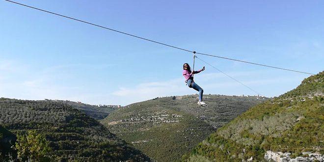 ورزش زیپلاین در حومه طوطوس