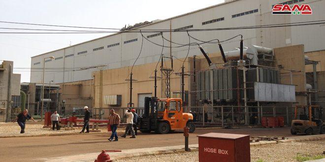 از سرگیری فعالیت نیروگاه الزاره در حومه جنوبی حماه  و وصل مجدد آن به شبکه سراسری برق کشور