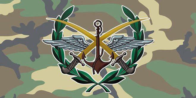 منبع نظامی: گروه های تروریستی و برخی رسانه های وابسته به آنها یک خبر جعلی و دروغین در مورد استفاده ارتش سوریه از سلاح شیمیایی در حومه لاذقیه منتشر کرده اند