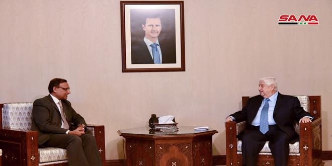 تاکید ولید المعلم بر اهمیت تقویت همکاری ها بین سوریه و هند در تمام زمینه ها